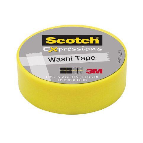 Scotch Washi Craft Tape 15mm x 10m Yellow