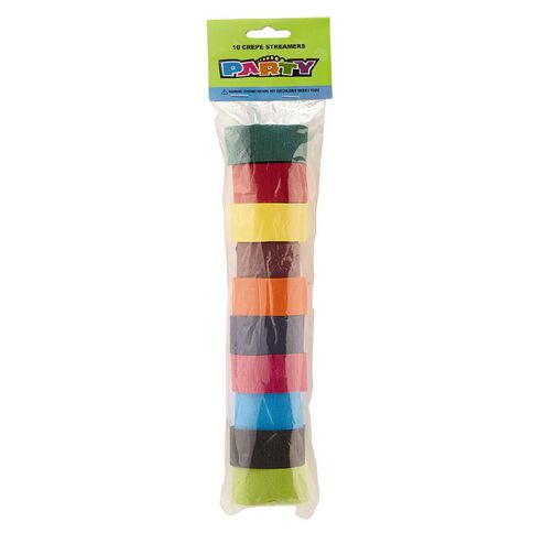 Meteor Crepe Streamers Assortment Multi-Coloured
