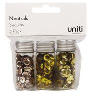 Uniti Sequin Neutrals 3 Pack
