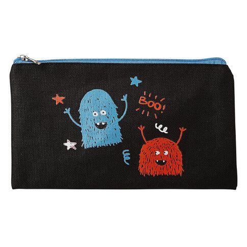 WS Flat Pencil Case Monsters