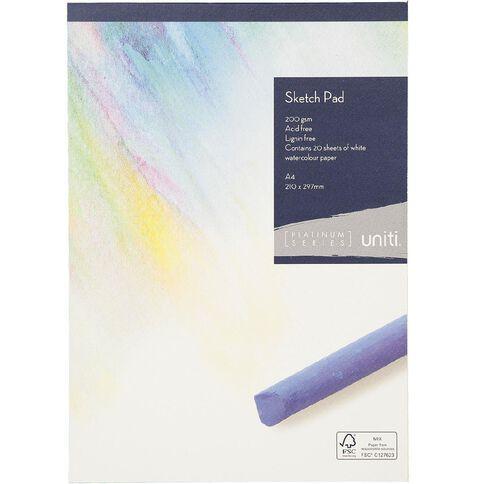 Uniti Platinum Sketch Pad 200gsm A4 20 sheets
