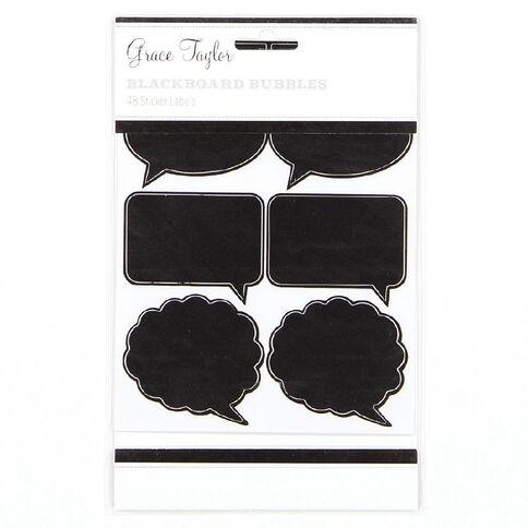 Grace Taylor Stickers Blackboard 48 Pack Speech Black