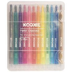 Kookie Kookie Twist Crayon 12 Pack Multi-Coloured