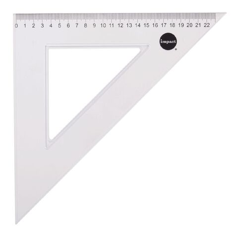 Impact Set Square 45 Degree 23cm Clear