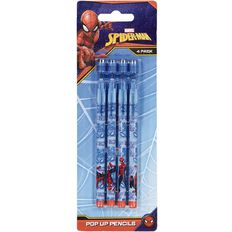 Spider-Man Pop Up Pencils 4 Pack