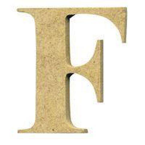Sullivans Mdf Board Alphabet Letter 6cm F Brown
