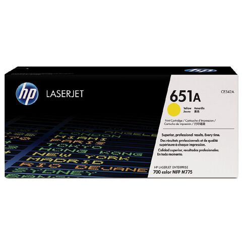 HP 651A Yellow Contr LaserJet Toner Cartridge (16000 Pages)