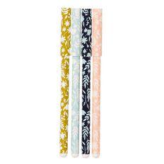 Uniti Winter Bloom Pen Set 4 Pack