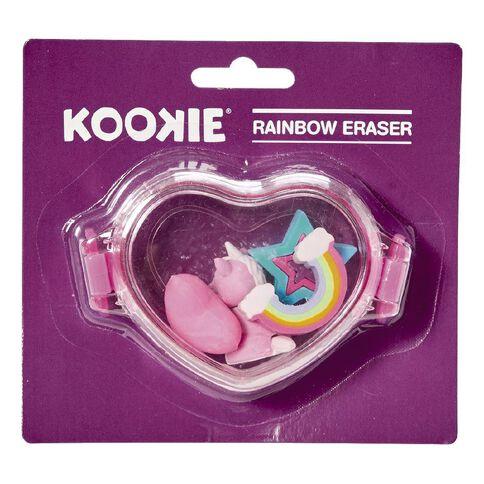 Kookie Novelty-P Eraser Rainbow 4 Pack