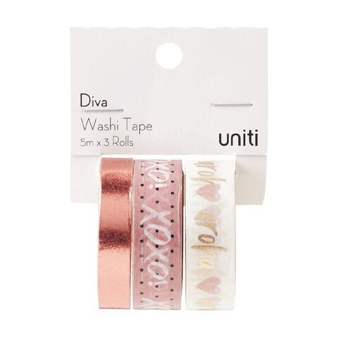 Uniti Diva Foil Washi Tape 3 Pack