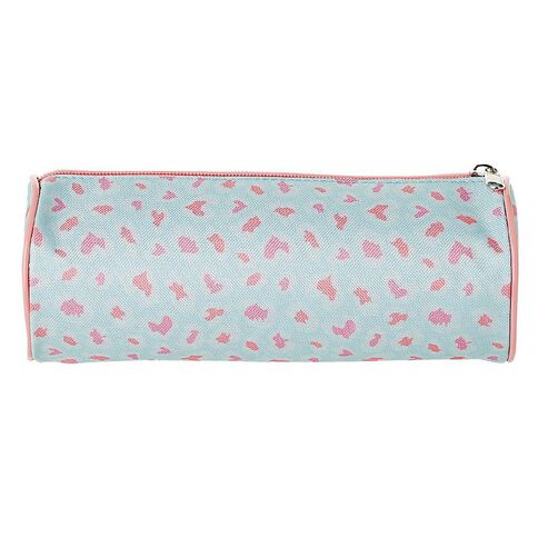 Warehouse Stationery Pencil Case Tube Leopard
