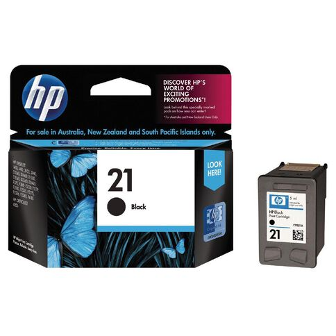 HP Ink Cartridge 21 Black (190 Pages)