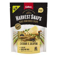 Calbee Harvest Snaps Black Bean Crisps Jalapeno & Cheddar 85g