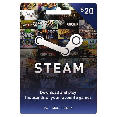 Steam Game Card $20