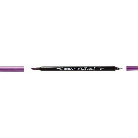 MARVY Le Plume II Dual Tip Marker Pale Violet