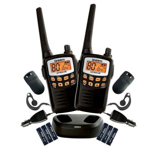 Uniden Uh710-2Tp UHF Radio Twin Pack Black
