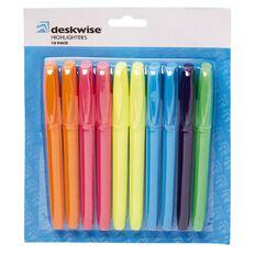 Deskwise Highlighter Long 10 Pack Mixed Assortment