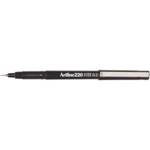 Artline Pen 220 Extra Fine 0.2mm Black