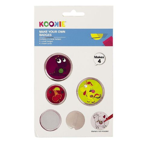 Kookie Make Your Own Badges 4 Piece