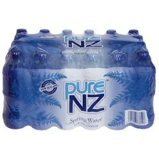 Pure NZ Spring Water 600ml Blue 24 Pack