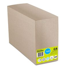 Tudor Envelope C4 Window 250 Box White