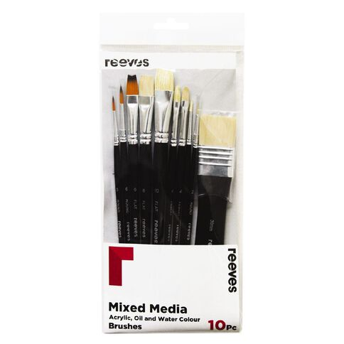 Reeves Mixed Media Brush Set of 10