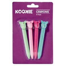 Kookie Novelty-P Unicorn Crayons 4 Pack