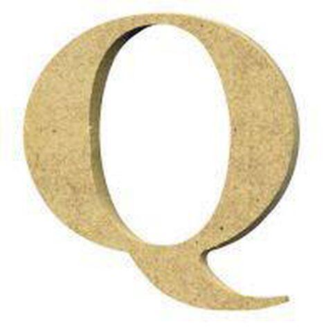 Sullivans Mdf Board Alphabet Letter 6cm Q Brown