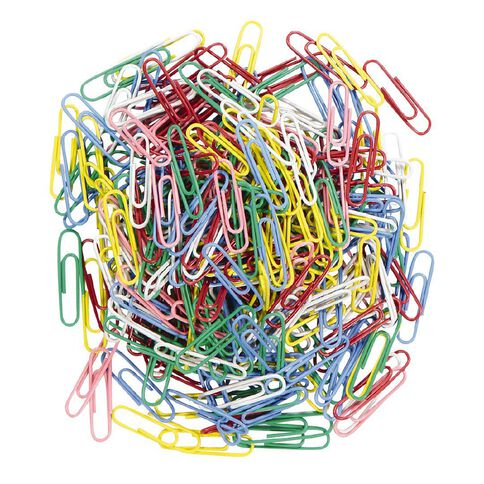 WS Paperclips 33mm 300 Pack Assorted