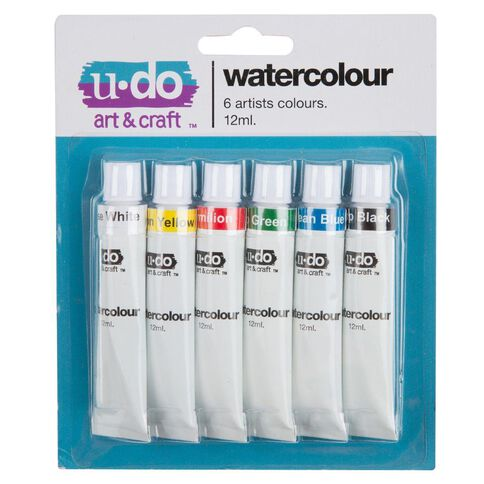 U-Do 12ml Watercolour Paint 6 Pack