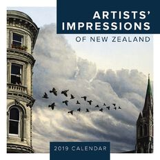 BrownTrout Calendar 2019 Artists Impressions of New Zealand Square
