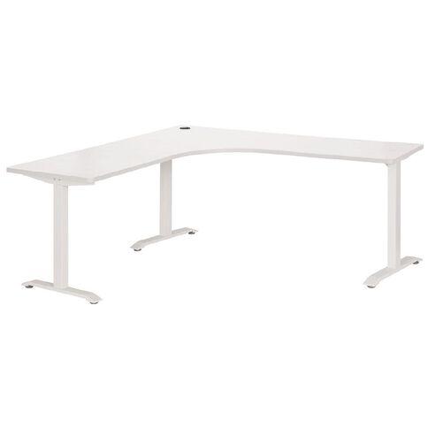 Jasper J Emerge Metal Leg Workstation 1500 White/White