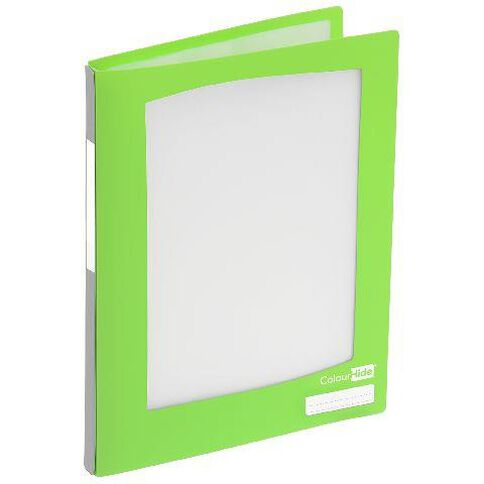 ColourHide Refillable Display Book 20 Pockets Lime A4