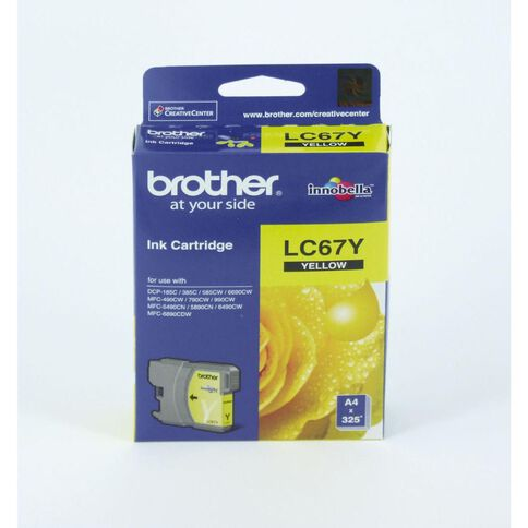 Brother Ink LC67 Yellow (325 Pages)
