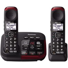 Panasonic Kx-Tgm422Azb Twin Cordless Phone Black