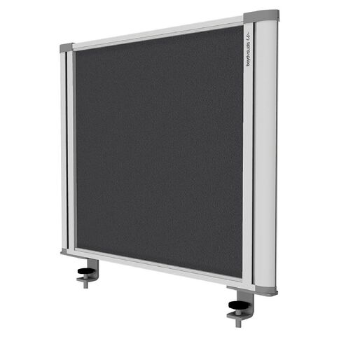 Boyd Visuals Desk Mounted Partition 560W Grey