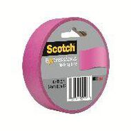 Scotch Masking Craft Tape 25mm x 18m Fuschia