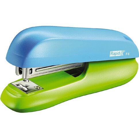 Rapid Half Strip Stapler F6 with Staples Funky Blue/Green