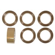 Impact Packaging Tape PP Acrylic 48mm x 100m 6 Pack Tan