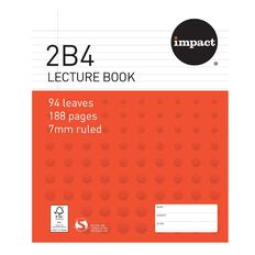 Impact Lecture Book 2B4 7mm Ruled Hardcover 94 Leaf
