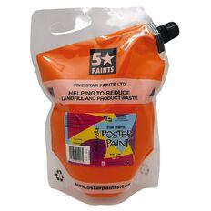 Fivestar Tempera Poster Paint Orange 1.5 litre Pouch