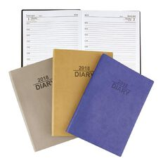 Dats 2018 Diary Day To Page Soft PU Cover A4