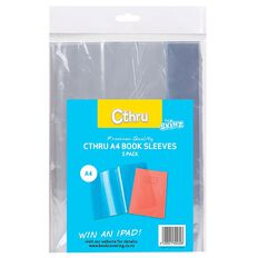 SKINZ Cthru Book Sleeve 5 Pack Clear A4