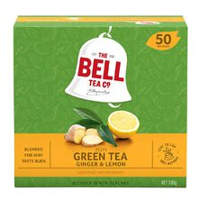 Bell GreenTea Lemon & Ginger Tagless Teabags 50 pack
