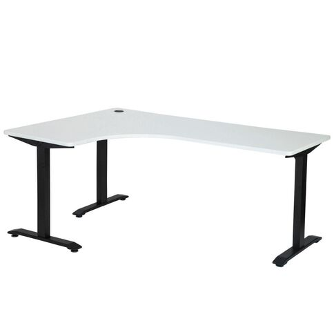 Jasper J Emerge Metal Leg Workstation 1800 x 1200 LH White/Ironstone