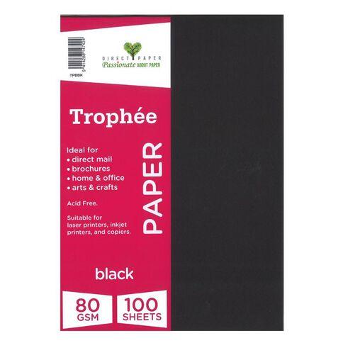 Trophee Paper 80gsm 100 Pack Black A4