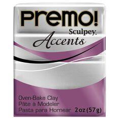 Sculpey Premo Accent Clay 57g Silver
