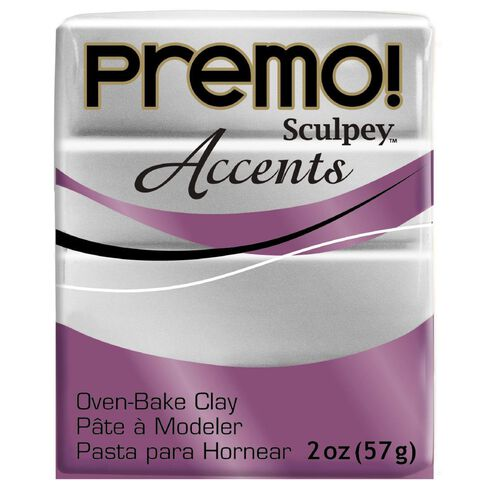 Sculpey Premo Accent Clay 57g Silver