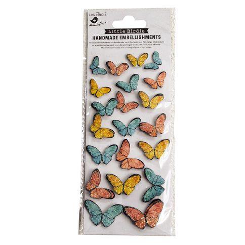 Little Birdie Beautiful Butterflies Sunshine And Lemonade 20 Pieces