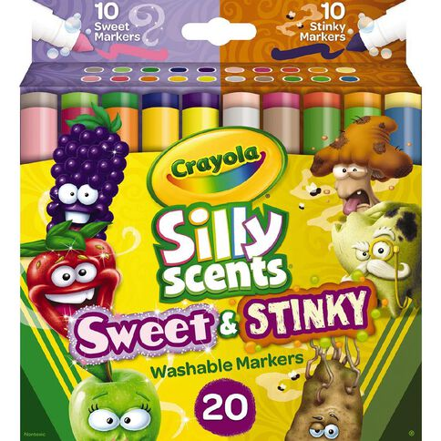 Crayola Silly Scents Stinky & Sweet Broadline Markers 20 Pack